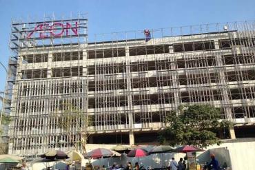 Dự án mở rộng Aeon Mall Tân Phú sử dụng gạch siêu nhẹ aac giảm tải trọng chống cháy cho công trình