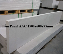 Tấm panel AAC 1500x600x75mm