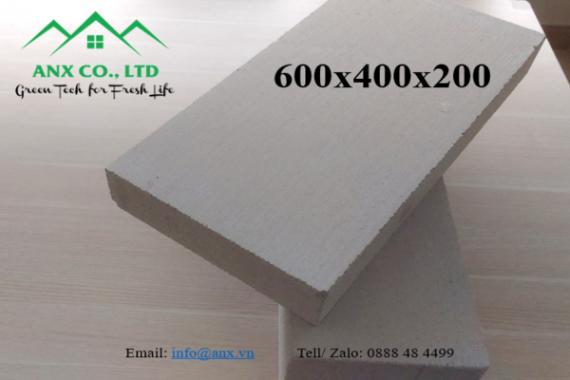 Gạch Block 600x400x200, độ dày 200mm