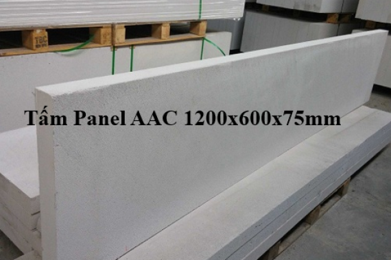 Tấm panel AAC 1200x600x75mm