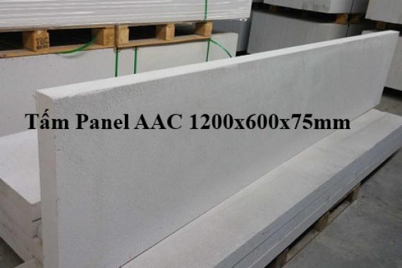 Tấm panel alc làm sàn dày 75mm dài 1200mm rộng 600mm